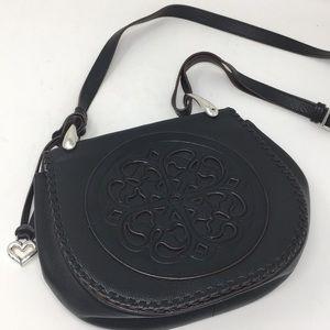 Brighton Shoulder Crossbody Purse Black Leather